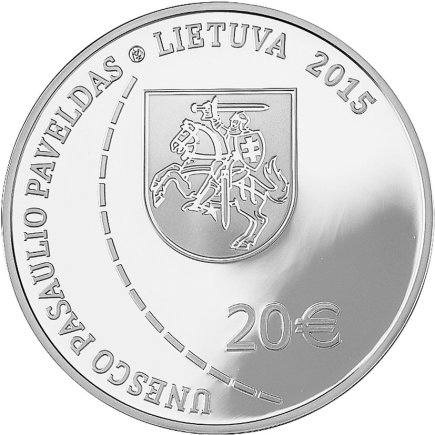Lietuvos banko nuotr./Kolekcinė 20 eurų moneta