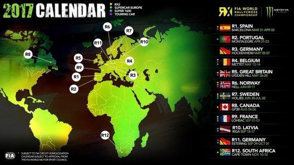 2017 metų ralio kroso čempionatų kalendorius
