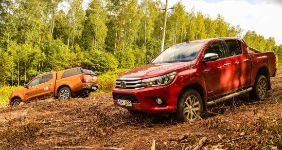 """Dainiaus Cuberos nuotr,/Pikapų testas – """"Nissan Navara"""" prieš """"Toyota Hilux"""""""