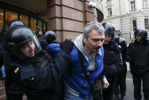 """""""Reuters""""/""""Scanpix"""" nuotr./Balandžio 2-osios protestai Rusijoje"""