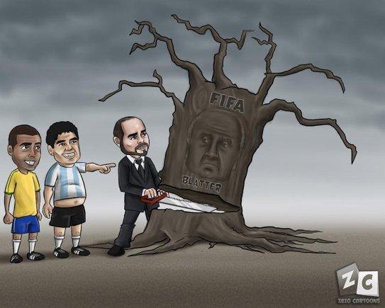 zerocartoons nuotr./Seppas Blatteris ir Ali bin al-Husseinas