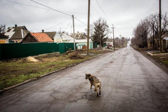 Vidmanto Balkūno / 15min nuotr./Marjinkos gatvė, kurioje vis dar gyvena civiliai