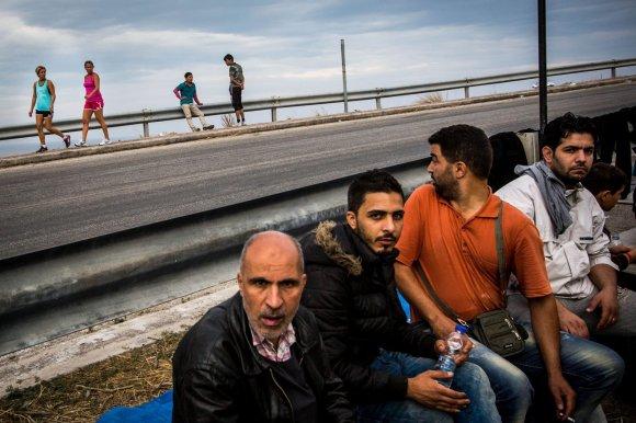 Vidmanto Balkūno/15min.lt nuotr./Migrantai ir pabėgėliai atplaukia į Lesbo salą