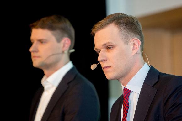 Vidmanto Balkūno / 15min nuotr./Mykolas Majauskas ir Gabrielius Landsbergis
