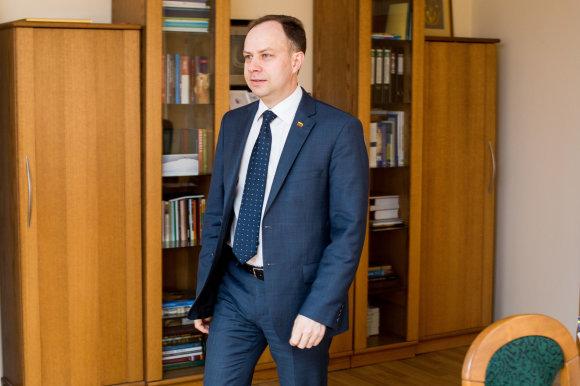 Vidmanto Balkūno / 15min nuotr./Sveikatos apsaugos ministras Aurelijus Veryga