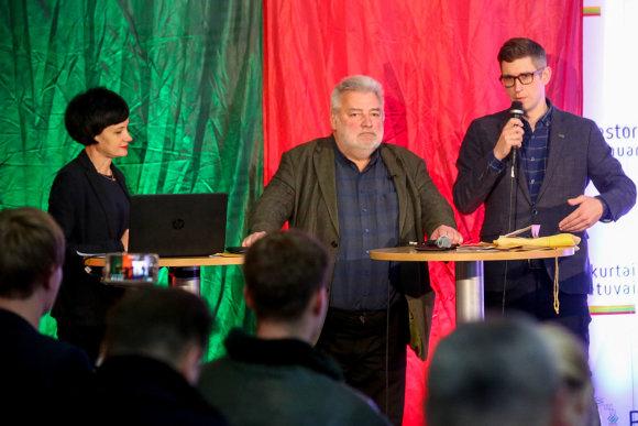Vidmanto Balkūno / 15min nuotr./Spaudos konferencija, kurioje pristatomos Valstybės atkūrimo šimtmečio programos ir projektai