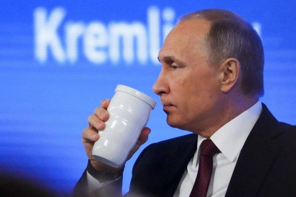 """""""Scanpix""""/AP nuotr./2016-ųjų Vladimiro Putino metinė spaudos konferencija"""