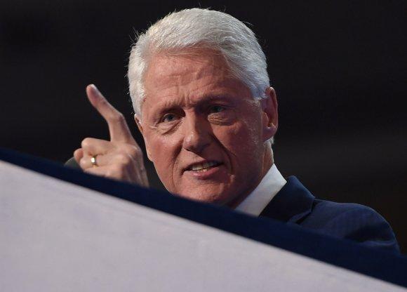 """AFP/""""Scanpix"""" nuotr./Billas Clintonas demokratų partijos suvažiavime Filadelfijoje"""