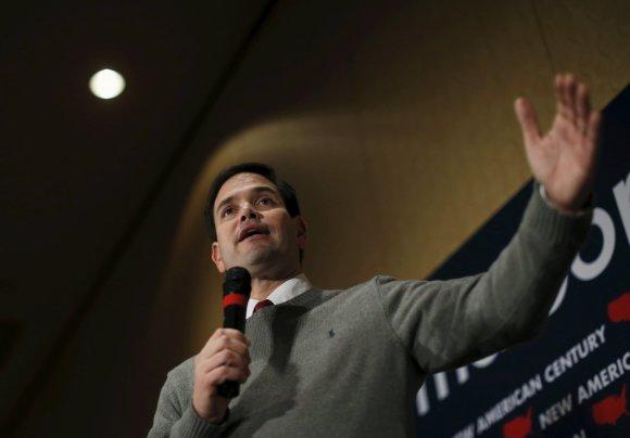 """""""Reuters""""/""""Scanpix"""" nuotr./Kandidatas į JAV prezidento postą Marco Rubio"""