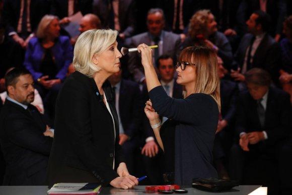 """AFP/""""Scanpix"""" nuotr./Kandidatų į Prancūzijos prezidento postą televiziniai debatai"""