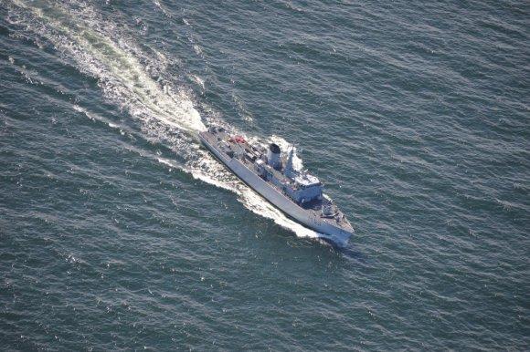 """Karinių jūrų pajėgų nuotr./Laivas  """"Skalvis"""" (M53)"""