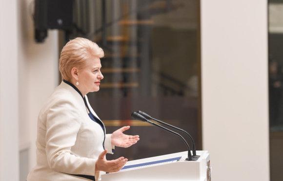 R. Dačkaus nuotr./Dalia Grybauskaitė