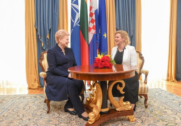 R. Dačkaus nuotr./Prezidentė susitinka su naująja Kroatijos Prezidente Kolinda Grabar-Kitarovič