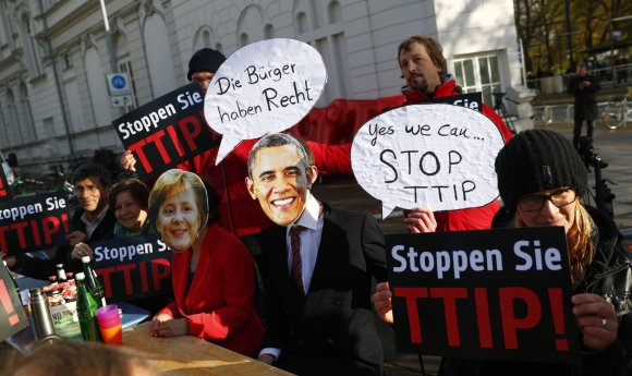 """Reuters""/""Scanpix"" nuotr./Protestas Hanoveryje"