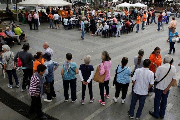 """""""Reuters""""/""""Scanpix"""" nuotr./Protestas Venesueloje"""