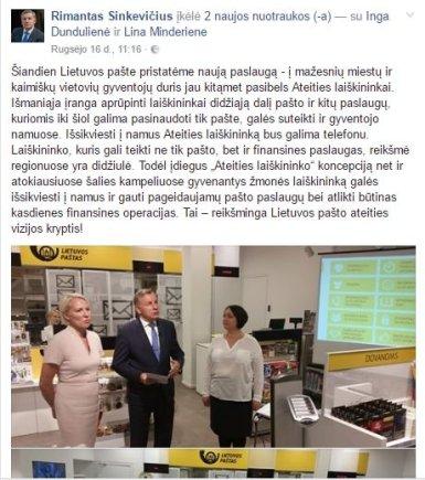 """""""Facebook"""" nuotr./Rimantas Sinkevičius turėjo veiklos"""
