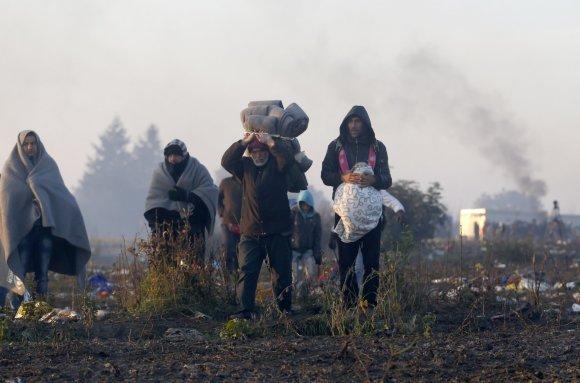 """""""Scanpix""""/AP nuotr./Slovėniją pasiekė rekordinis skaičius migrantų"""