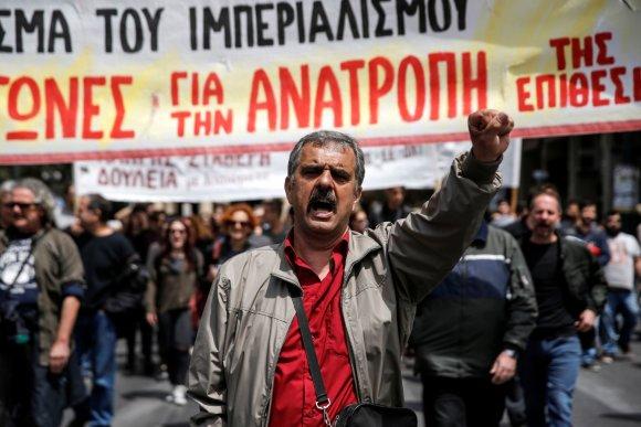 """Reuters""/""Scanpix"" nuotr./Streikas Graikijoje"