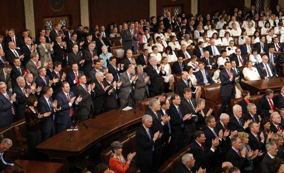 """Reuters""/""Scanpix"" nuotr./Donaldo Trumpo kalba JAV Kongresui"