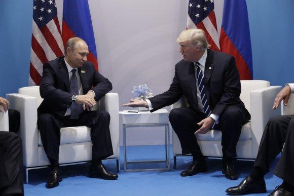 """""""Scanpix""""/AP nuotr./Vladimiro Putino ir Donaldo Trumpo susitikimas"""