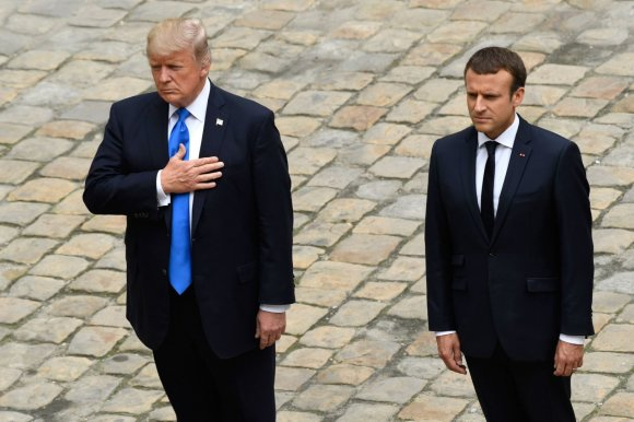 """Scanpix""/AP nuotr./Donaldo Trumpo vizitas Prancūzijoje"