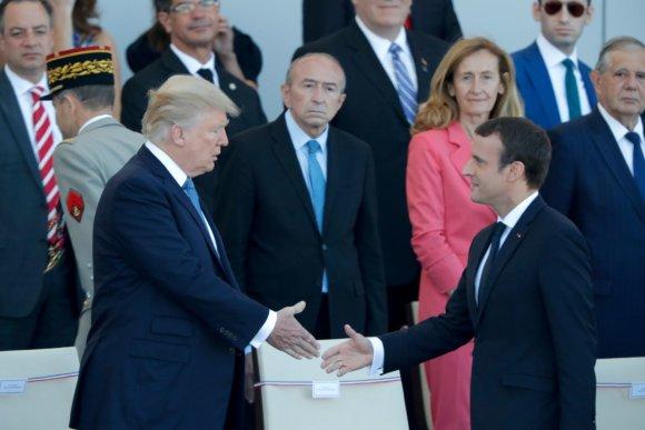 """""""Reuters""""/""""Scanpix"""" nuotr./E.Macronas ir D.Trumpas Paryžiuje paminėjo Bastilijos paėmimo dieną"""