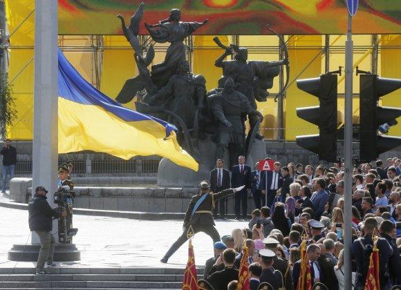 """""""Scanpix""""/AP nuotr./Nepriklausomybės dienos minėjimas Ukrainoje"""