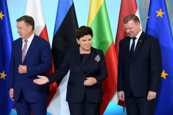 """AFP/""""Scanpix"""" nuotr./Sauliaus Skvernelio vizitas Lenkijoje"""