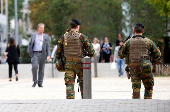 """""""Reuters""""/""""Scanpix"""" nuotr./Kariai patruliuoja Briuselyje"""