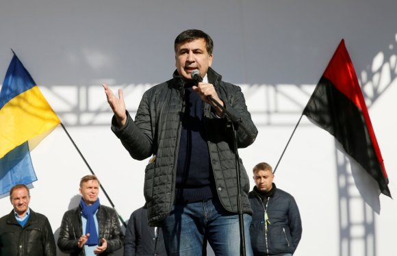 """Reuters""/""Scanpix"" nuotr./Michailas Saakašvilis Kijeve"