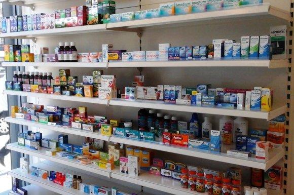 A.Vainoro valdomoje vaistinėje parduodami ir lietuviški, ir kitose šalyse gaminti medikamentai.