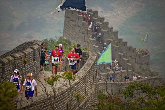 Projekto partnerio nuotr./Didžiosios kinų sienos maratonas