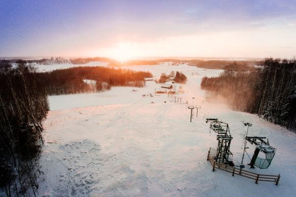 Evaldo Brazausko nuotr./Aukštagirės slidinėjimo trasa Šilalės rajone