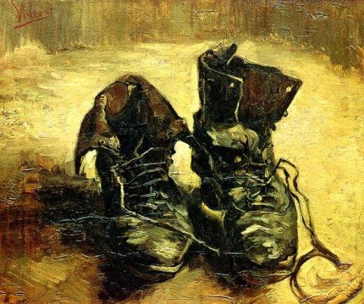 "Stop kadras/Vincento Van Gogho paveikslas ""Pora batų"""