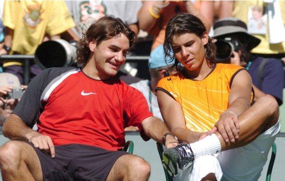 """Scanpix"" nuotr./Rafaelis Nadalis ir Rogeris Federeris"