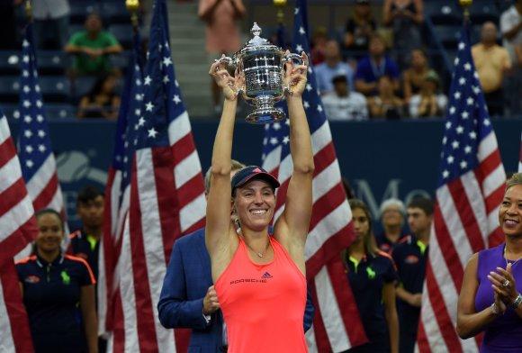 """Scanpix"" nuotr./""US Open"" čempionato finalas: Angelique Kerber – Karolina Pliškova"