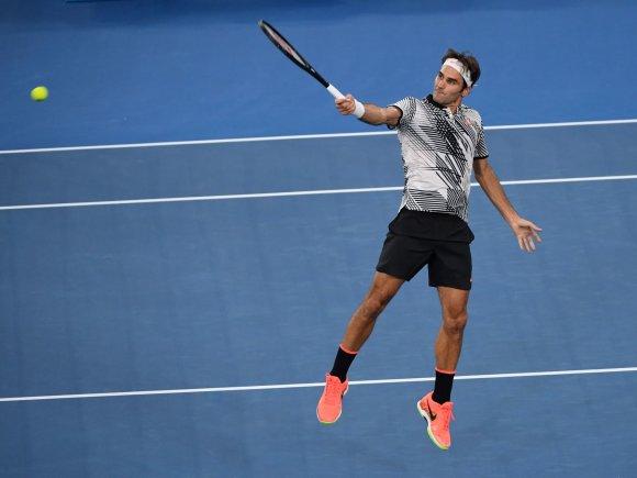 """Scanpix"" nuotr./Rogeris Federeris prieš Kei Nishikorį"