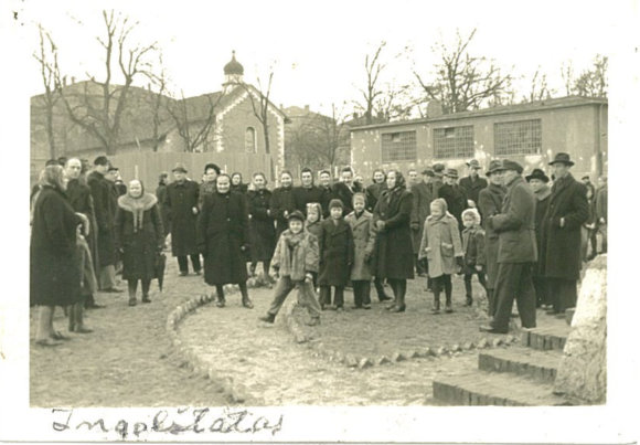 Leono Narbučio asmeninio archyvo nuotr./Pabėgėlių stovykloje Ingelštate.
