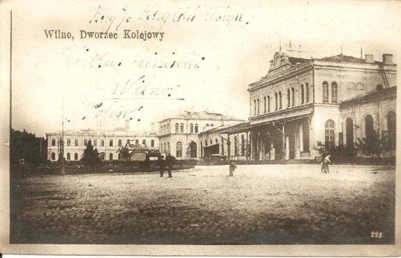 XX a. pr. atvirukas/Vilniaus geležinkelio stotis 1912 m.
