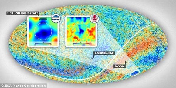 ESA nuotr./Atrasta didžiausia iki šiol mokslui žinoma struktūra