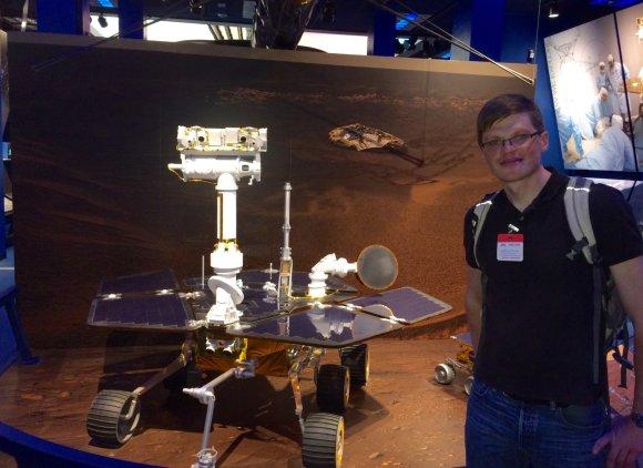 Asmeninio archyvo nuotr./Audrius Alkauskas NASA JPL laboratorijoje 2015-aisiais