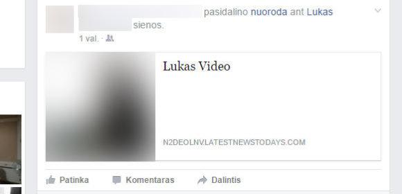 Facebook viruso sukurta nuoroda