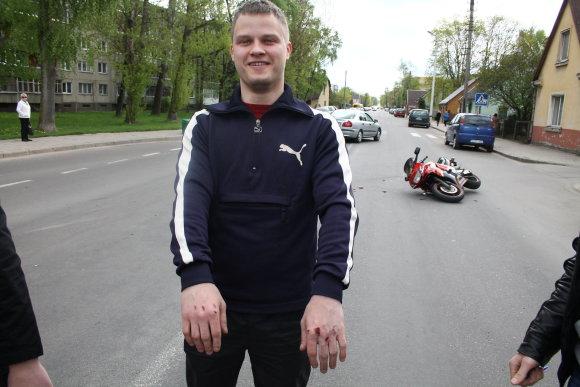 Tomo Markelevičiaus nuotr./Avarijos vietoje