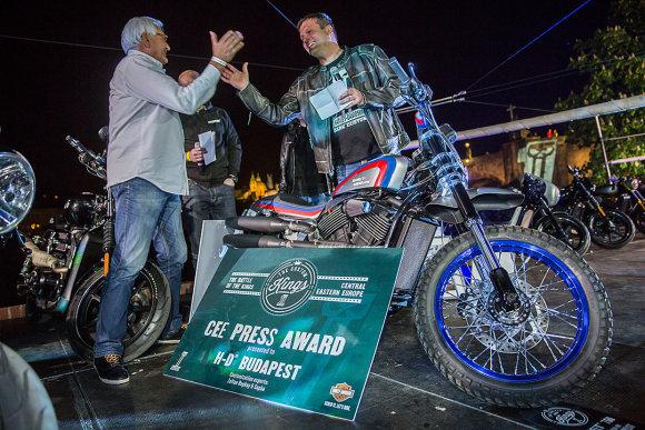 """Jano Altnerio nuotr./""""Harley-Davidson"""" renginio akimirka"""
