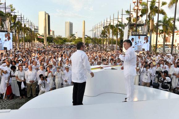 Istorinis taikos susitarimas tarp FARC ir Kolumbijos