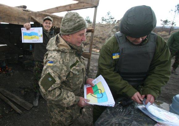 Alvydo Januševičiaus nuotr./Piešiniai Ukrainos kariams