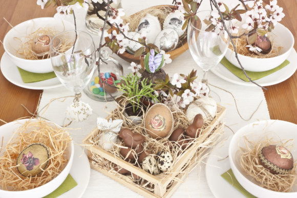Shutterstock nuotr./Velykų stalo dekoras