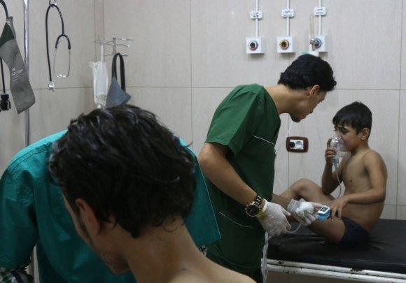 """AFP/""""Scanpix"""" nuotr./Rusija neigia Sirijoje bombarduojanti ligonines, nors tokių misijų įrodymų netrūksta"""