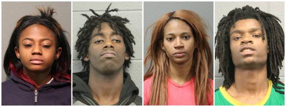 """""""Reuters""""/""""Scanpix"""" nuotr./Keturi įtariamieji Čikagoje"""