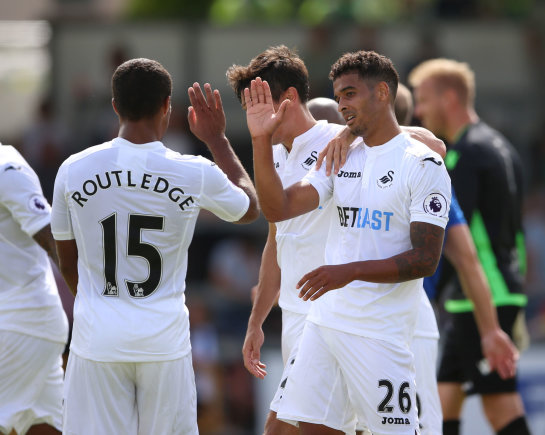 """Scanpix""/""PA Wire""/""Press Association Images"" nuotr./""Swansea"" futbolininkai"